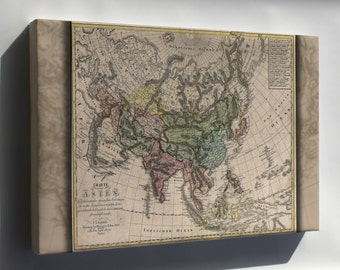 Canvas 16x24; Charte Von Asia Map 1805 China India Russia Japan