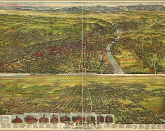 16x24 Poster; Map Of Los Angeles, California, 1894