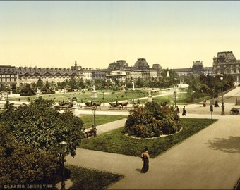 16x24 Poster; The Louvre, Paris, France. Photochrom 1890