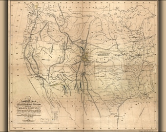 16x24 Poster; Map Of The United States 1859