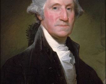 16x24 Poster; Portrait Of George Washington By Gilbert Stuart P10