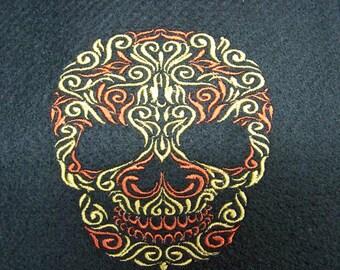 Sugar Skull, Day of the Dead, Calavera, Embroidered  server apron waitress apron waiter apron