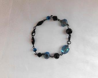 Black and Blue Jewel Bracelet