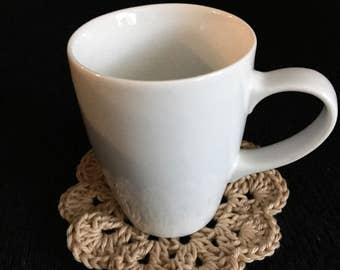 Crocheted coaster *Set of 4* / Cotton Coaster / Wedding Gift / Mother's Day Gift / Gift for Her / For the House / Table Setting