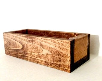 Wood Planter Box Rustic Home Decor Wood Box Decor Organizer
