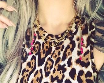 Tassel Fringe Collar