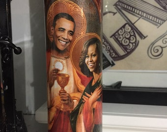 St Barack Michelle Obama Valentines Prayer Candle