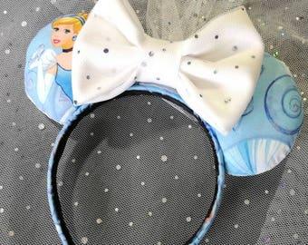 Cinderella Bride Ears/Bride Minnie Ears