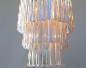 A very nice vintage modernist Murano glass chandelier