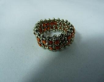 Triangle Saffron japanese bead ring