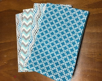 Teal Cloth Napkins - Set of 4