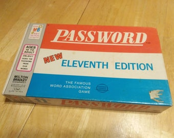 Password - 1962 - 11th Edition - Milton Bradley - Board Game