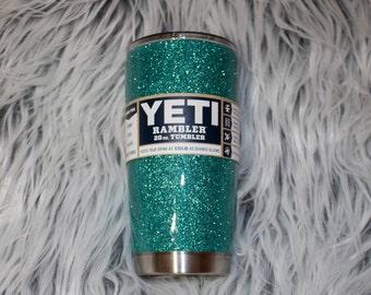 glitter yeti // glitter RTIC // glitter ozark // glittered stainless steel tumbler // custom yeti // personalized yeti // lowball tumbler