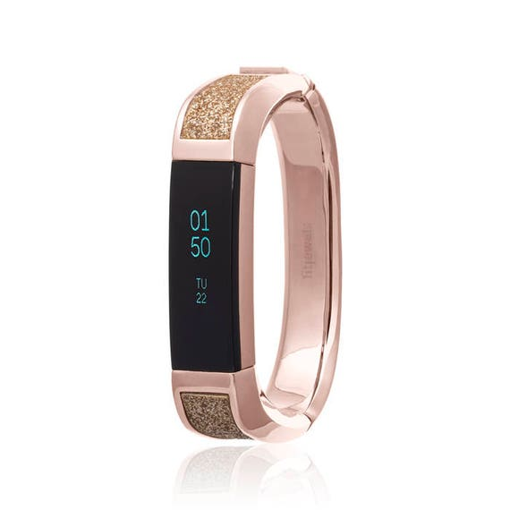 Bangle ARTEMIS -  Rose Gold & Glitter - more colors available - Jewelry for Fitbit Alta and Alta HR