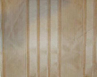 KRAVET COUTURE IMPEND Silk Velvet Stripes Fabric 10 Yards Vanilla Cream