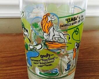 Walt Disney, McDonald's, Glass, Tumbler, Retro, 100 Years of Magic, Collectible, Vintage, Deep Creek Shabby Decor