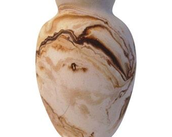 Nemadji Pottery Earthy Shades Swirl Vase