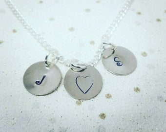Initial Necklace, Initial Disc Necklace, Personalise Necklace, Personalise your own necklace, Initial Love Necklace