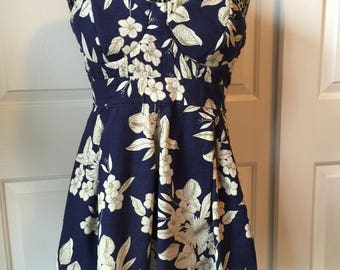 XL Vintage Hawaiian print dress