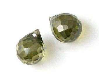 water drops CubicZirconia  7 * 9 Olivine [3 Pieces]