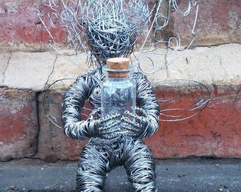 Whimsical Wish/Worry Fairy Wire Sculpture