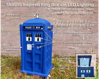 TARDIS Inspired Ring Box w/ LED Lighting
