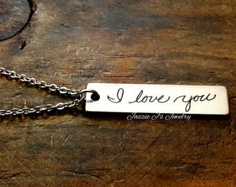 Actual Handwriting Necklace, Customized Necklace, Signature Necklace, Personalized Gift, Handwritten Necklace, In Memory of Gift, Loss Gift