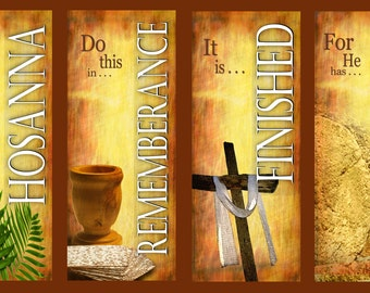 Easter Set D (English)  / Set of 4 Banners (G317)