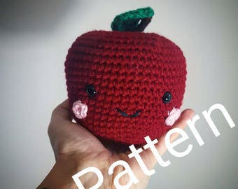 Amigurumi Apple Crochet Pattern PDF Instant Digital Download Back to School Teacher Gift/ Amigurumi Pattern/ Crochet Pattern