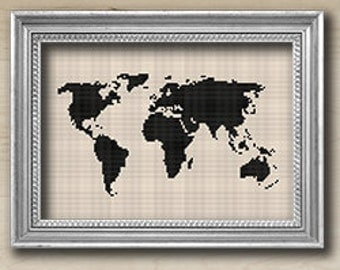 Instant download, Free shipping,  Cross-Stitch PDF, world, cross stitch, cross stitch pattern