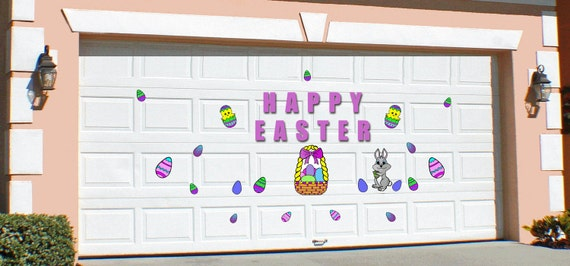 Garage Door Easter Display