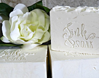 Homemade Soap - Artisan Soap - White Gardenia Soap - Cold Process Soap - White Soap - Handcrafted Soap Bar - Floral Soap - Scented Soap