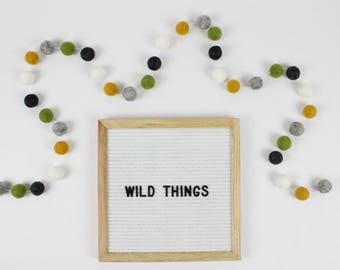 Pom Pom Garland | Custom Felt Ball Garland | Nursery Decor | Birthday Banner | Felt Pom Pom Garland | Pompom Garland | Wild Things