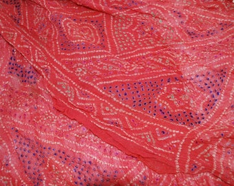 Intricate Red Pattern – Vintage Japanese Silk Obi Scarf