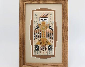native american,navajo,navajo sand painting,native american art,native,eagle,navajo art,sand painting, Navajo Sand Painting Eagle Kachina