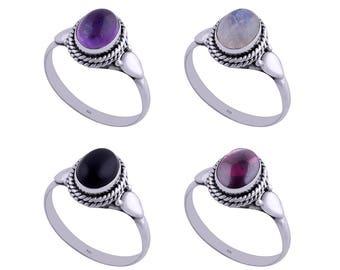 DAISY amethyst silver ring