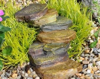 Deco Rock Staircase for Miniature Garden, Fairy Garden