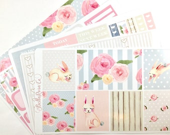 Spring Bunny- Erin Condren Sticker Kit