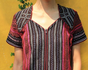 Hmong Dress / Embroidery Dress / Hand Embroidered Dress