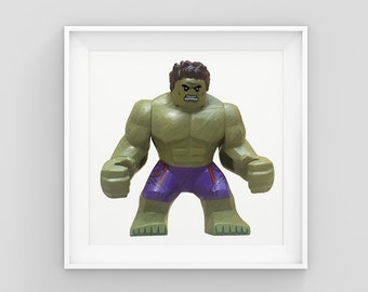 Lego Hulk - Digital Painting (A3)
