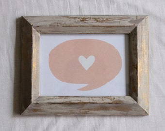 Hand-Painted Gold Frame with Print