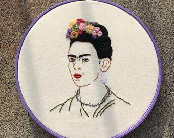 Frida khalo portrait embroidery