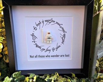 Gandalf, Not all who wander are lost, LOTR, Lord of the Rings, Gift for Traveler, Gift for Him, Gift for Her, Nerdy Office Decor, Wall Art