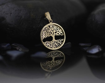 14k Gold Tree of Life Necklace, Tree-of-Life Necklace, 14K Tree of Life Necklace,  Sacred Tree, Gold Tree of Life, Tree of Life pendant
