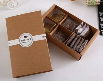 30pcs/lotBrown Kraft Paper Boxes Gift Craft Box Drawer Style Handmade Packaging Jewelry 20.2*12.5*5cm