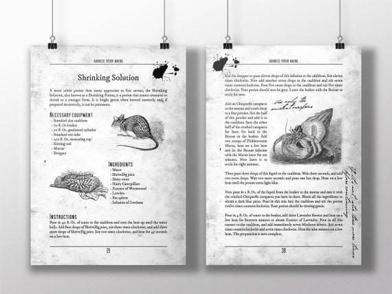 Persnickety image for advanced potion making printable