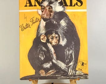 Drawing Book, How To Draw Animals, Walter Foster, Vintage How to Books, How to Draw Monkeys