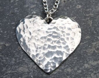 Planished Heart Pendant P01