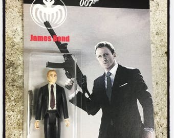 "Custom 007 James Bond Daniel Craig Spectre 3.75"" Action Figure Suit Retro Modern"