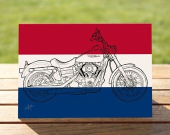 """Red, white & blue motorcycle Gift Card 